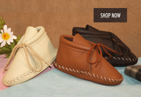 Children's Leather Moccasins