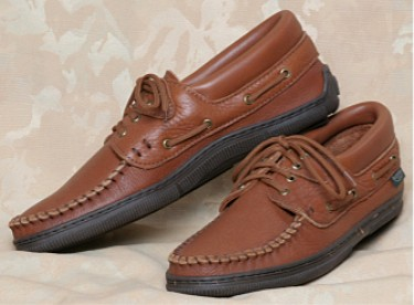 lace up leather moccasins