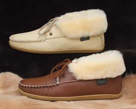 a1838b874b9 Sheepskin Moccasin Slippers Footwear by Footskins makes genuine American  handmade ...