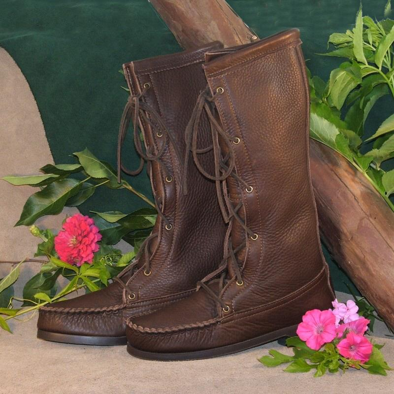 Brown Cowhide with TPR Rubber Soles
