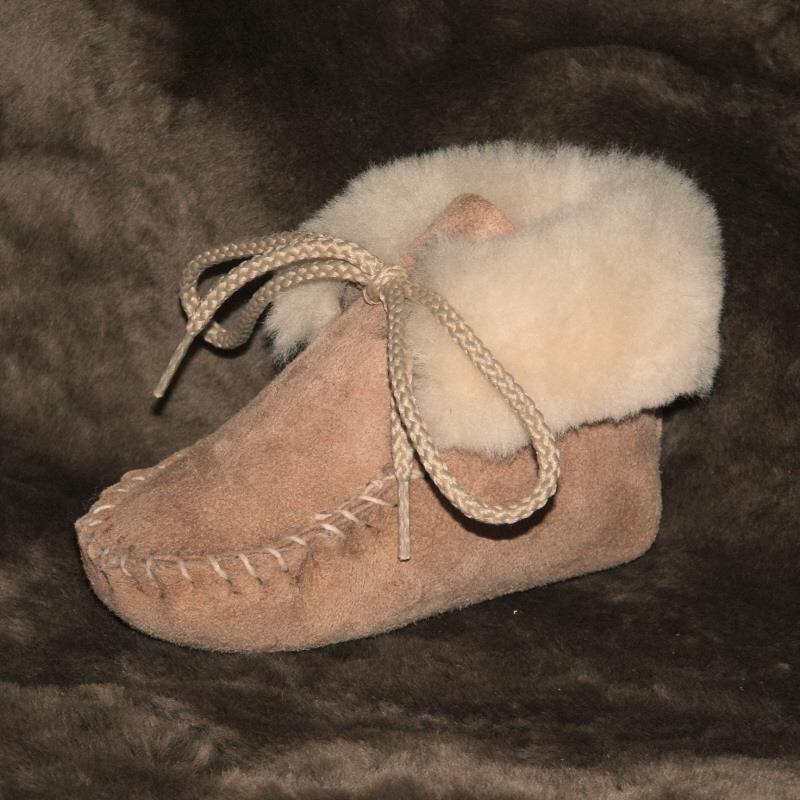 Tan Infant Sheepskin Booties