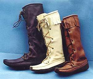 Knee High Boots Handmade Moccasin Knee Highs