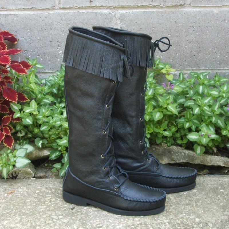 Men's Fringe Knee High Boots