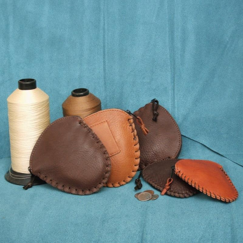 Large Brown & Saddle standing on left; Small Brown & Sequoia on right