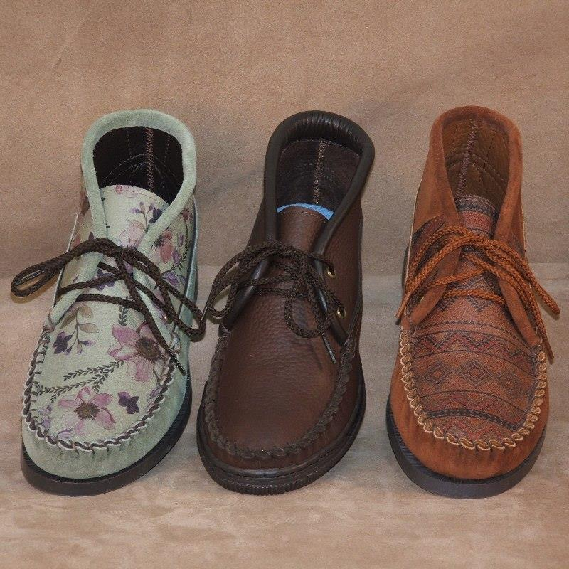 Cowhide & Suede Lace-up Chukkas